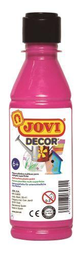 Barvy akrylové JOVI jovidecor 250ml růžová - 68008 Plastická barva na bázi vody a latexu