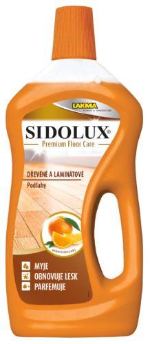 Sidolux PREMIUM Floor Care na dřevěné a laminátové podlahy 750ml pomerančový olej Laminátové a dřevěné podlahy jsou odolné