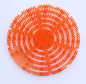 Vonné sítko do pisoáru Antisplash MANGO ORANŽOVÉ 2ks Vonné sítko k provonění pisoárů - Omezuje tvorbu pachů – uvolňuje bakterie - enzymy - působící proti vzniku nežádoucích pachů Revoluční