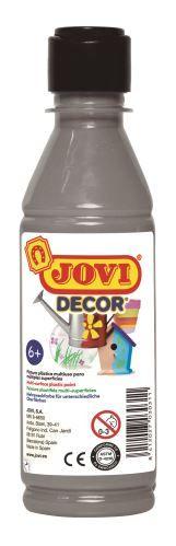 Barvy akrylové JOVI jovidecor rychlesnoucí 250ml stříbrná 68037 Plastická barva na bázi vody a latexu