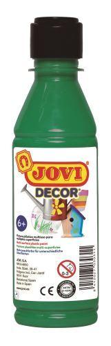 Barvy akrylové JOVI jovidecor 250ml tm. zelená - 68019 Plastická barva na bázi vody a latexu