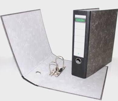 Pořadač pákový A4/5cm eko mramor Pořadače vyrobené z recyklovaného papíru - EKO -mramorová úprav - papírový štítek na hřbetu. Formát: A4 Hřbet: 5 cm Obrázek je informativní.