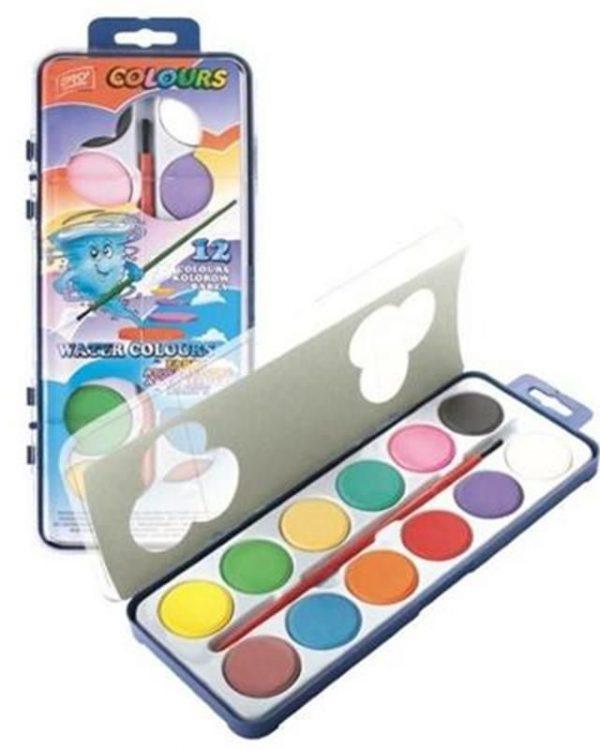 Barvy vodové EASY ART 12 barev Vodové barvy jsou vhodné pro školní použití