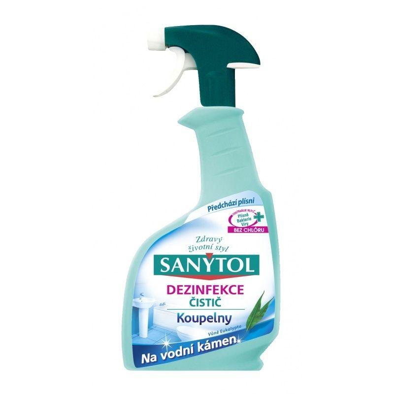 Sanytol dezinfekce na koupelny 500ml ODSTRAŇUJE AŽ 99.9% BAKTERIÍ A VIRŮ! Vlhkost podporuje růst bakterií
