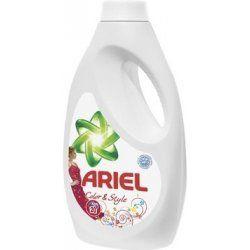 Gel na praní Ariel Color & Style /48PD na barevné Tekutý Ariel Color & Style s technologií Complete 7 se aktivuje již při teplotě 30 stupňů a představuje ideální péči o vaše barevné prádlo. Zajišťuje perfektní ochranu proti skvrnám