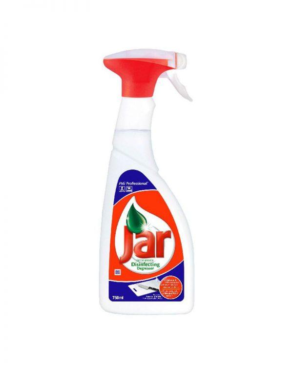 Jar odmašťovač spray dezinfekce na kuchyně 750ml Jar dezinfekční odmašťovač je vysoce účinný prostředek na odmašťování a dezinfekci všech kuchyňských povrchů včetně pracovních ploch