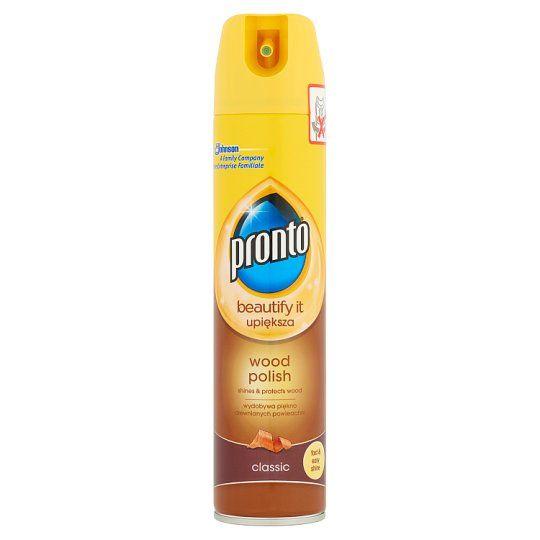PRONTO proti prachu classic wood hnědé 250ml Pronto sprej dokonale odstraňuje prach