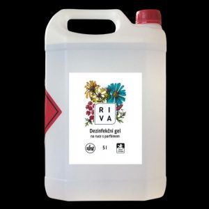 Dezinfekční gel bezoplachový na ruce a pokožku RIVA 5kg PROTI VIRŮM - SARS