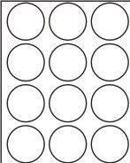 Etikety samolep. A4 kolečka průměr 60mm/100archů Víceúčelové etikety z matného papíru s permanentním lepidlem. Průměr kolečka : 60mm Balení obsahuje: 100 archů