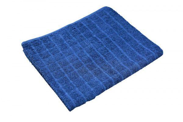 Ručník pracovní froté JERRY 50x90cm tmavě modrá Froté ručník - vzor káro - vhodný do kanceláří