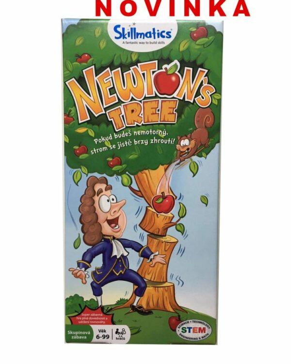 Balanční společenská hra Newtonův strom pro 2-6  hráčů Dokážeš pomoct Newtonovi postavit nejvyšší strom v parku? Přidávej nebo trhej jablíčka