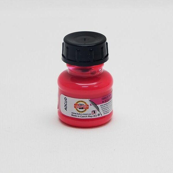 Tuš barevná 20g fluorescenční růžová Umělecká tuš se skvěle hodí na malování tenkým štětcem