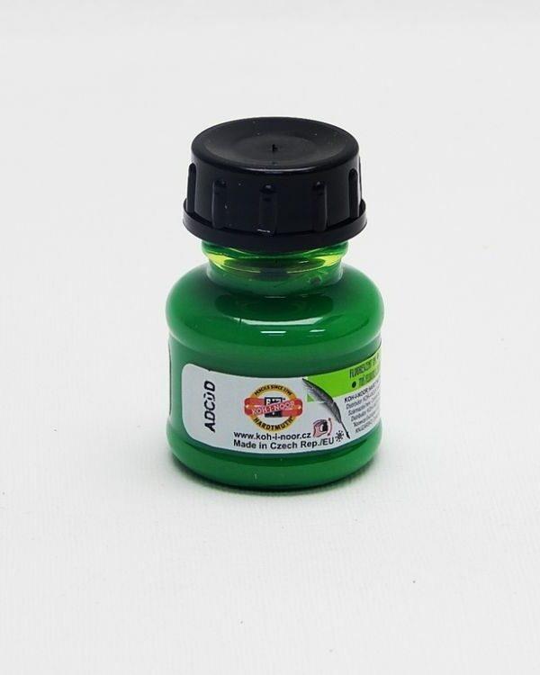 Tuš barevná 20g fluorescenční zelená Umělecká tuš se skvěle hodí na malování tenkým štětcem