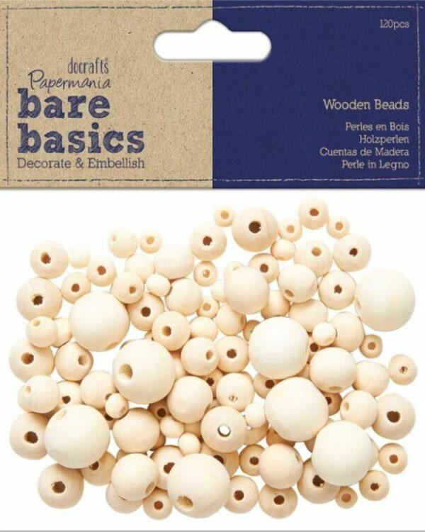 Korálky dřevěné kulaté přírodní mix velikostí 120ks Dřevěné korálky - přírodní - vhodné pro kreativní vyrábění -mix velikostí -balení obsahuje: 120ks Balení obsahuje 5 velikostí •Největší korálek má rozměry cca 1