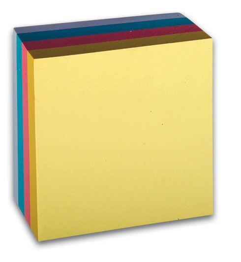 Lepicí blok 76x76 /400 listů pastelové barvy Pastelové samolepicí bločky pro použití v kanceláři i doma. 76 mm x 76 mm / 400 lístků