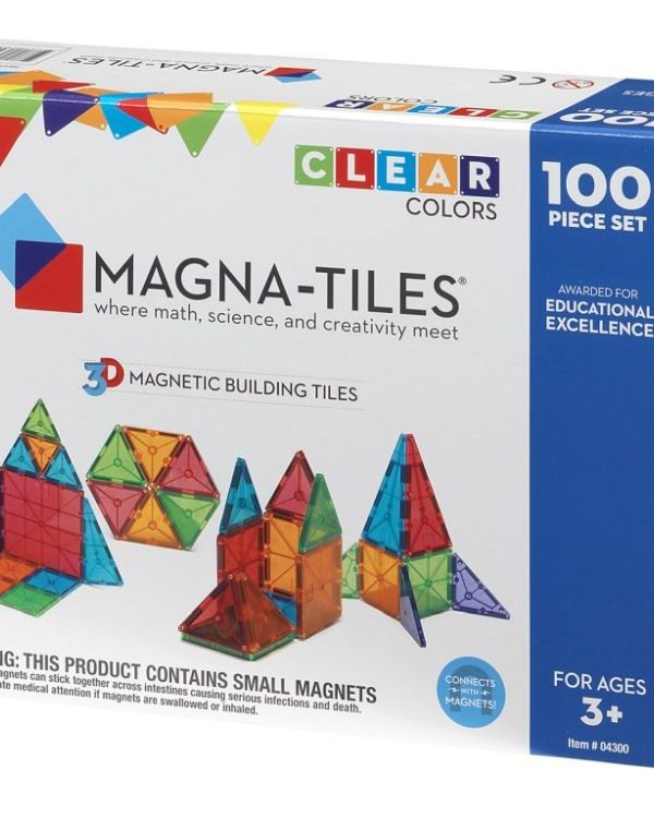 Stavebnice magnetická Magna Tiles clear 100ks Nevšední průhledná barevná magnetická stavebnice