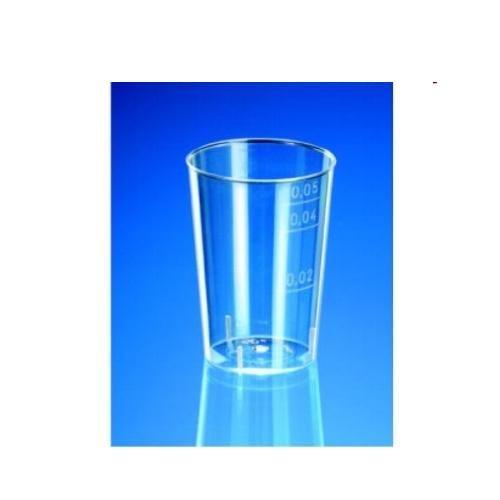Kelímek pohárek na alkoh.2cl/4cl/5cl/50ks měkký plast Pohárek na alkoholické nápoje a ochutnávky pro jednorázové použití z čirého plastu. Ocejchování 2cl